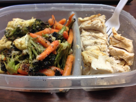 Roasted veggies and chicken